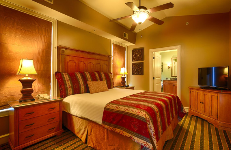 Guest room at RiverStone Resort & Spa.