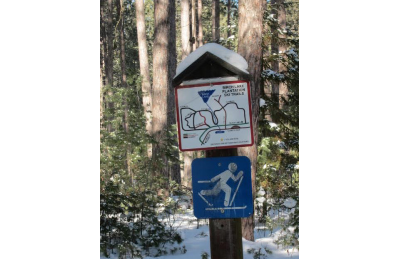 Trail map at Timber Bay Lodge