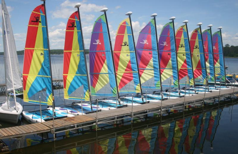 Sail boats at Tyler Place Family Resort.