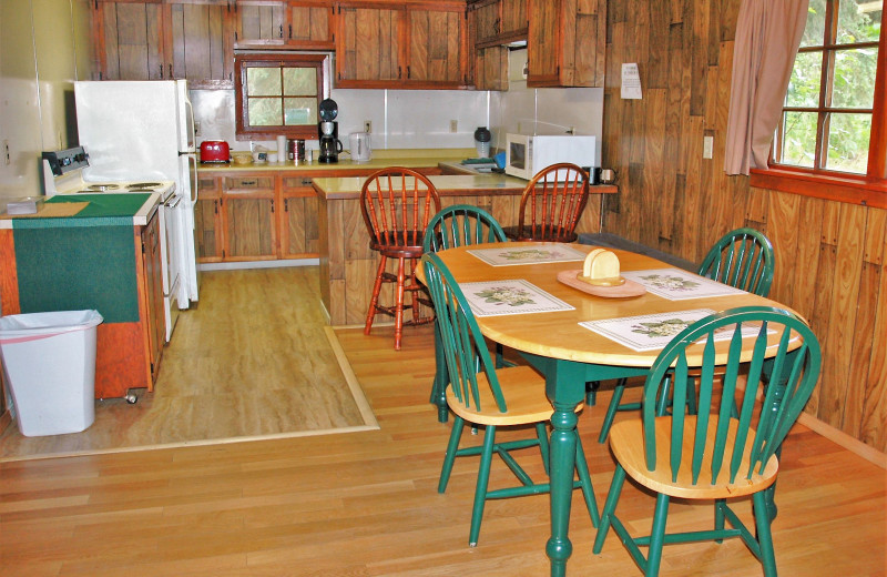 Guest kitchen at Gwin's Lodge & Kenai Peninsula Charter Booking Service.