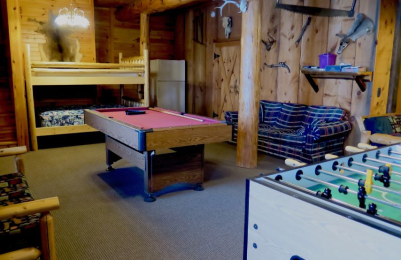 Guest recreation room at Sleeping Bear Resort.