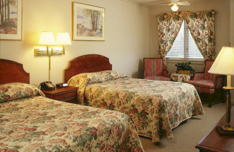 Guest double bedroom at The Mountain Inn.
