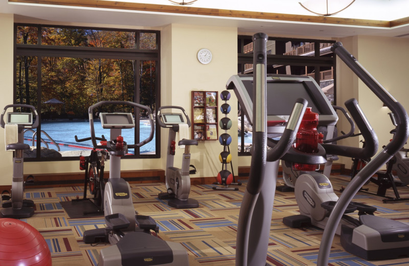 Fitness room at Stowe Mountain Lodge.