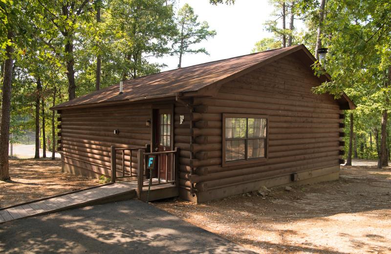 Cabin exterior at Brady Mountain Resort & Marina.