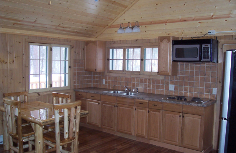 Cabin kitchen at Wilderness Resort Villas.