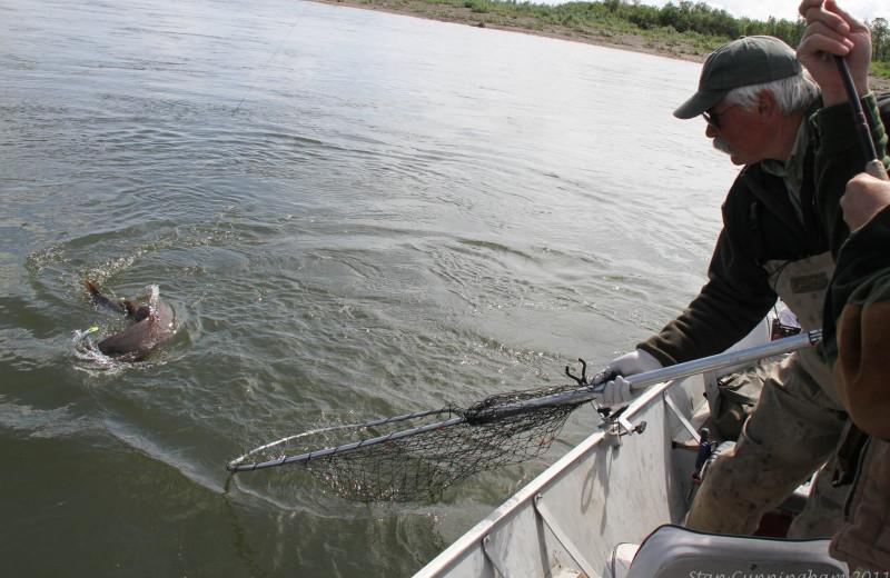 Fishing at Nushagak River Adventure Lodge.