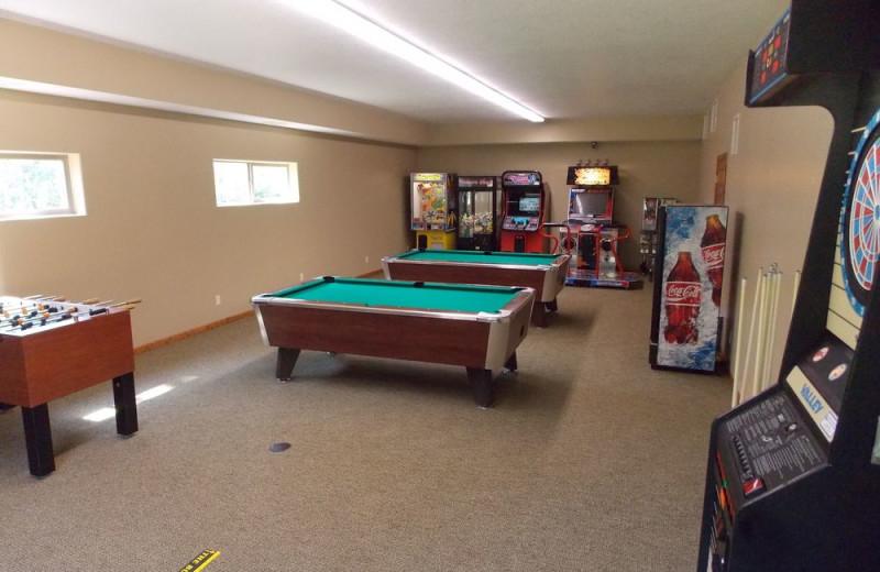 Game room at Wilderness Resort Villas.