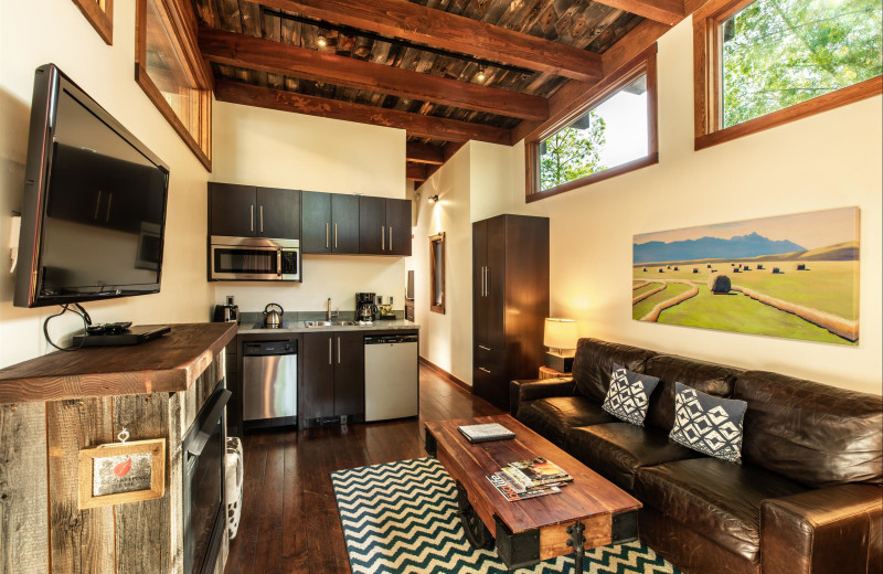 Cabin interior at Fireside Resort at Jackson Hole.
