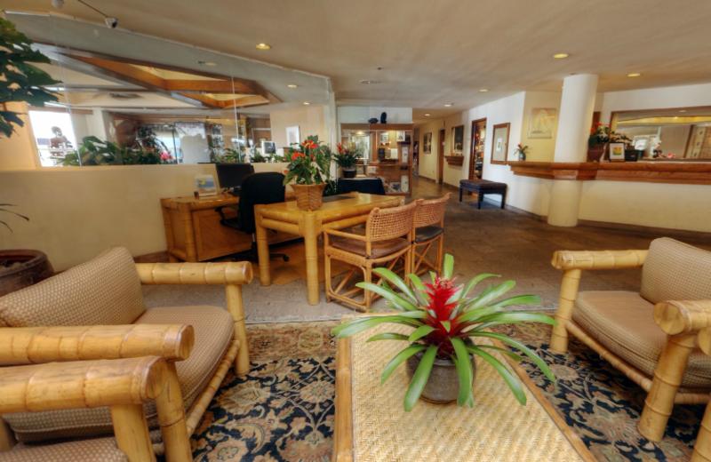 Lobby view at Bay Club Hotel & Marina.