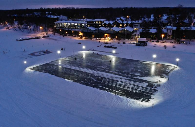 Winter at Cragun's Resort and Hotel on Gull Lake.