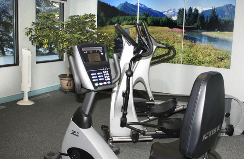 Fitness room at Sophie Station Suites.