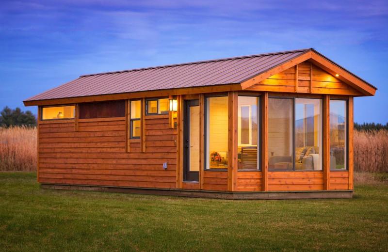 Cabin exterior at Top O' The Morn Resort.