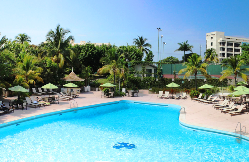 Outdoor pool at Jamaica Pegasus Hotel.