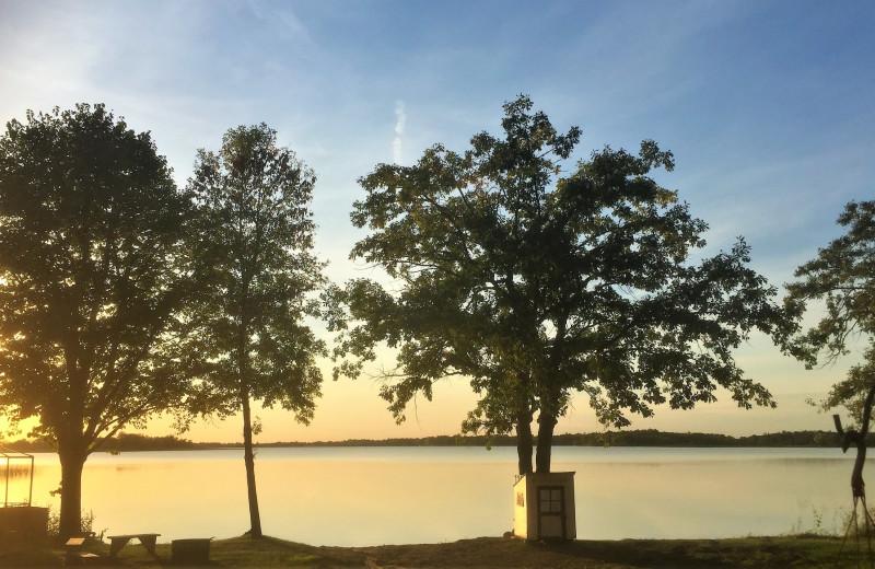 Lake view at Woodland Resort.
