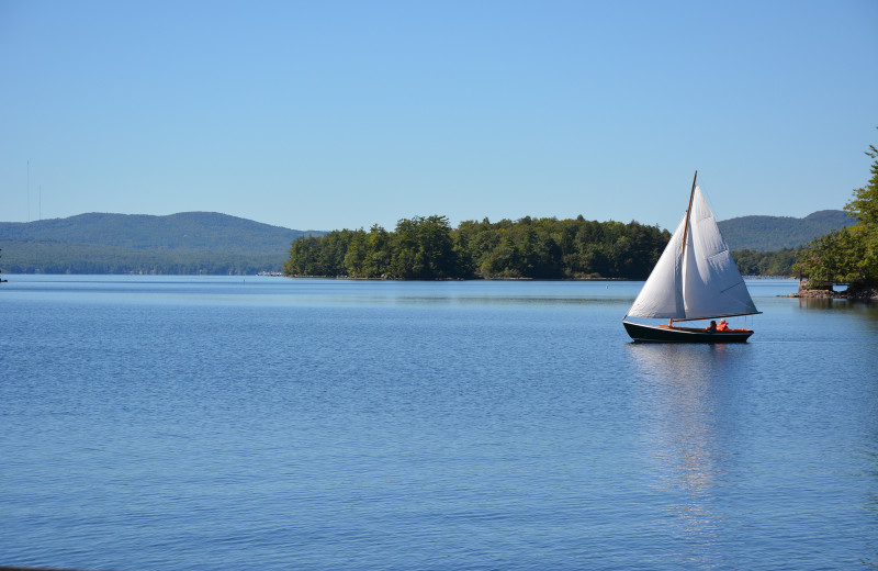 Sailing at Migis Lodge.