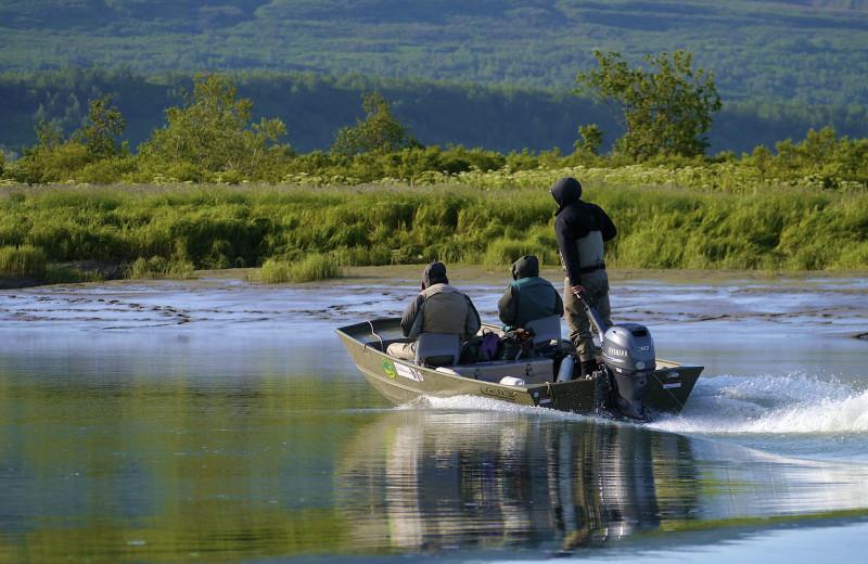 Fishing at Alaska Rainbow Lodge.