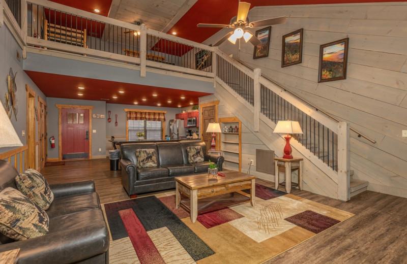 Rental living room at Eden Crest Vacation Rentals, Inc.