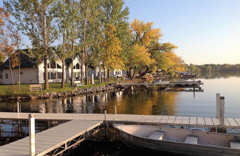 Docks at Brophy Lake Resort.