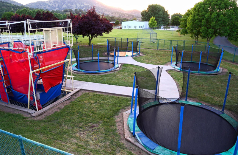 Trampolines at Wonder Valley Ranch Resort.