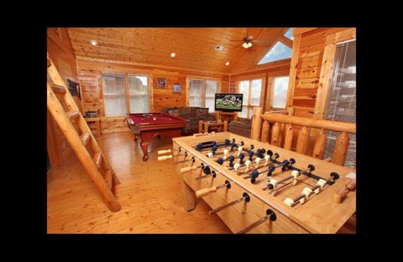 Cabin living room at Eden Crest Vacation Rentals, Inc. - Da' Crawfish Hole.
