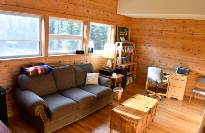 Living room at  Alaska Legends Adventure Resort.