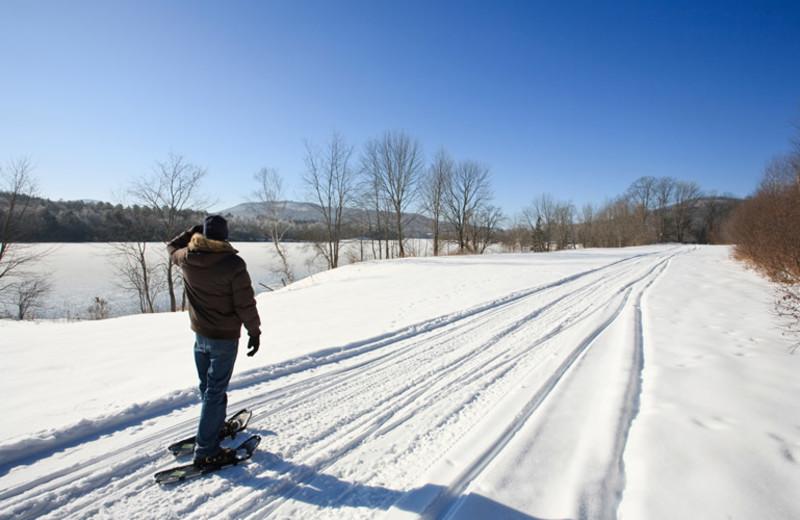 Ski trail at Rabbit Hill Inn.