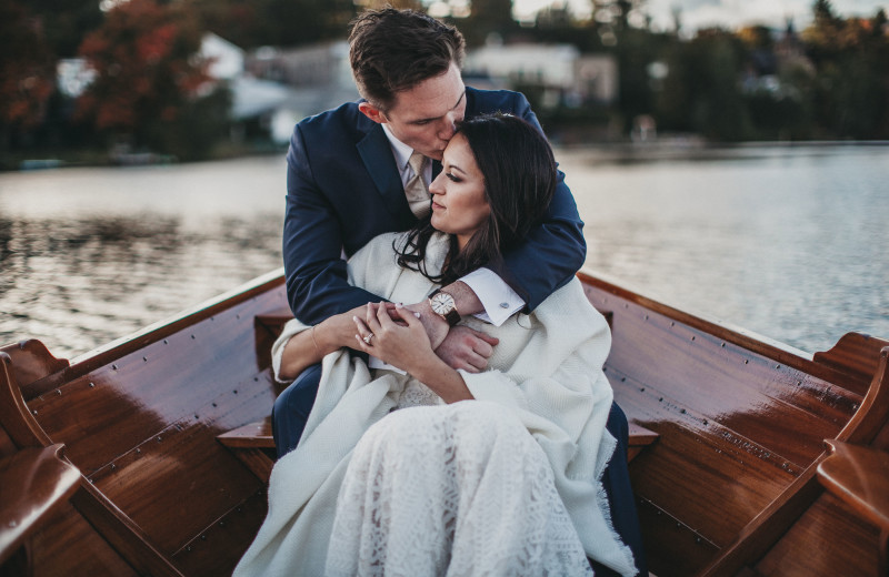 Take a romantic ride on our private gondola - it's perfect for wedding photos!