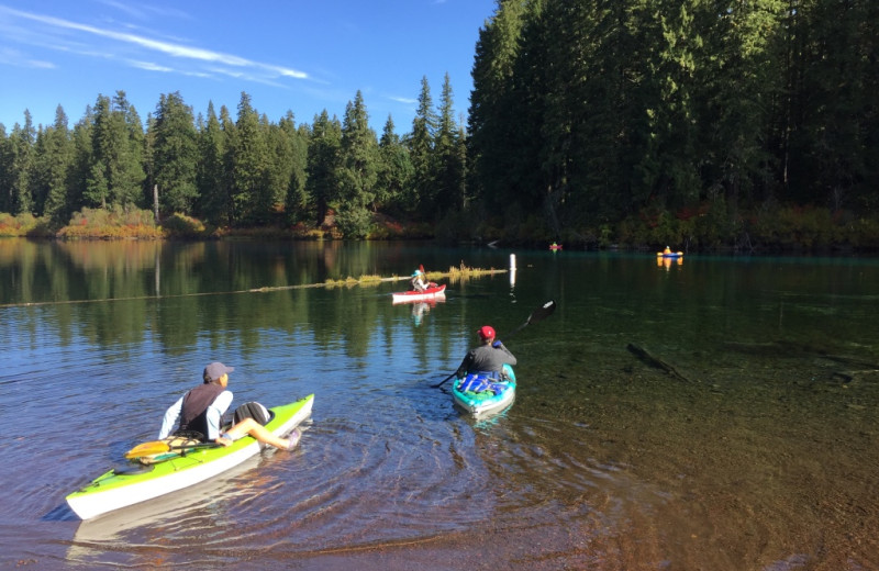 Canoeing at McKenzie River Mountain Resort.