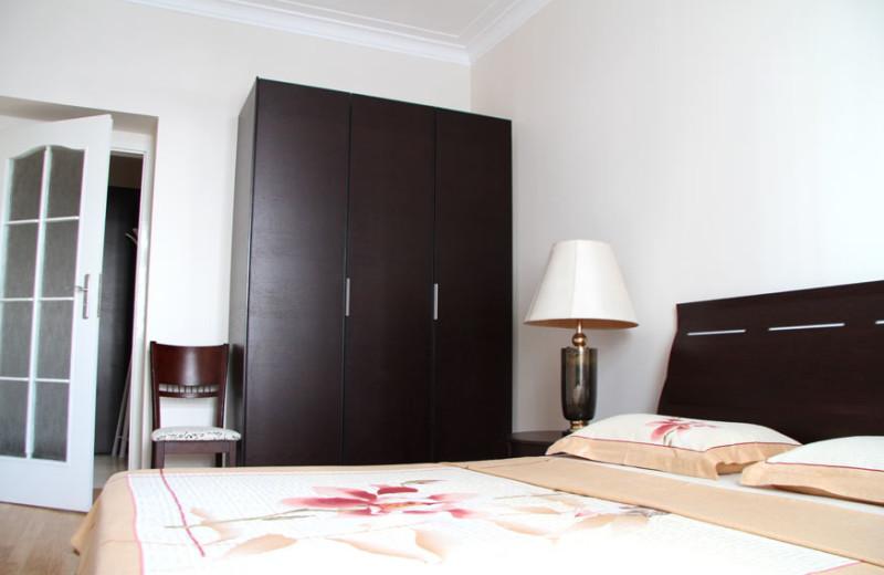 Rental bedroom at Chisinau apartments.