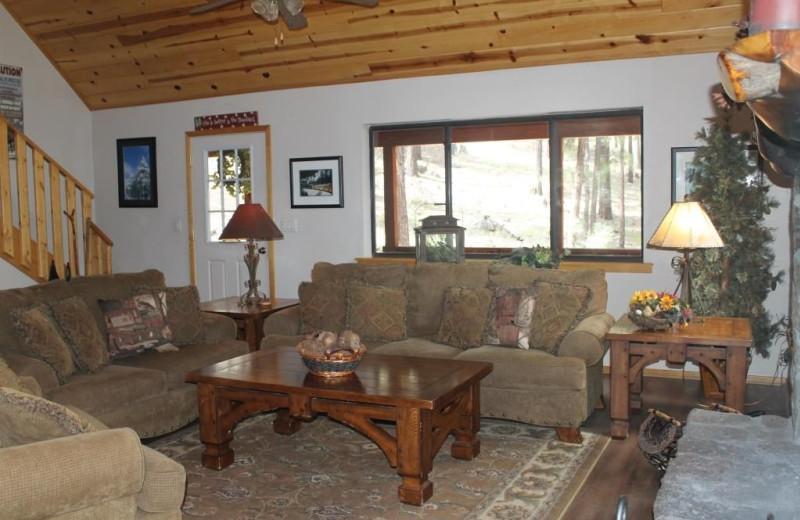 Living room at Acorn Lodge.