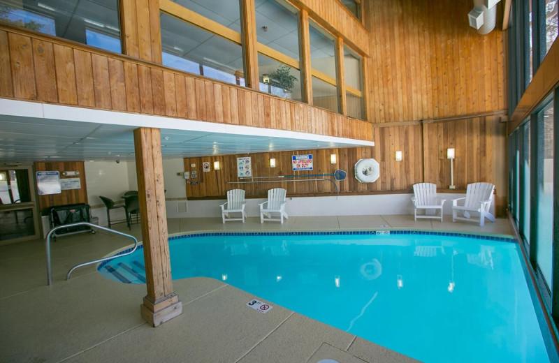 Indoor pool at Black Bear Lodge.