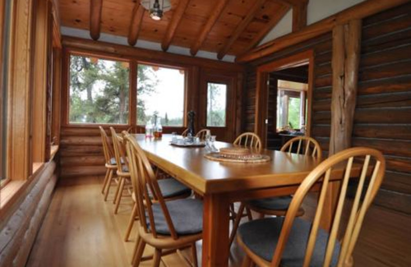 Dining room at Forest House.