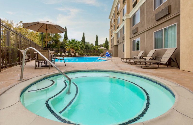 Outdoor pool at Comfort Inn Chula Vista San Diego South.
