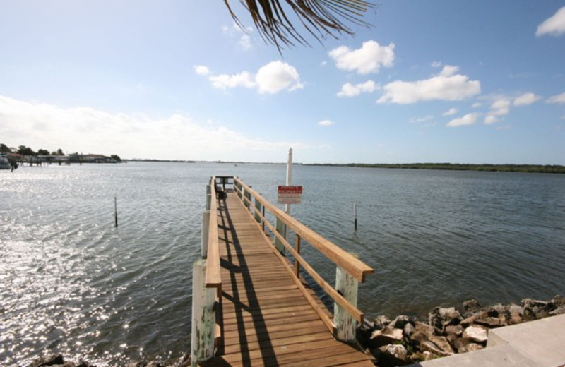 Fishing dock at Boca Ciega Resort