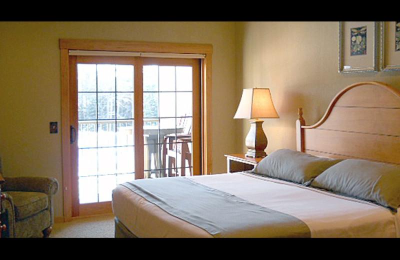 Condo bedroom at Northernaire Resort.