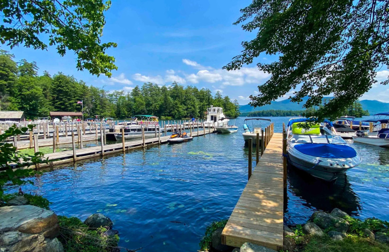 Rental dock at Northern Living - Luxurious Vacation Rentals.