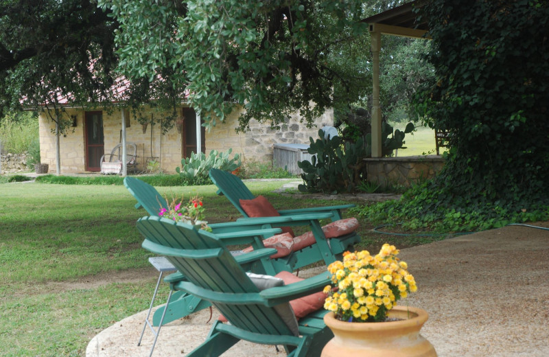 Patio at Fredericksburg Ranch.
