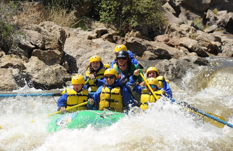 Water rafting at Elk Mountain Ranch.