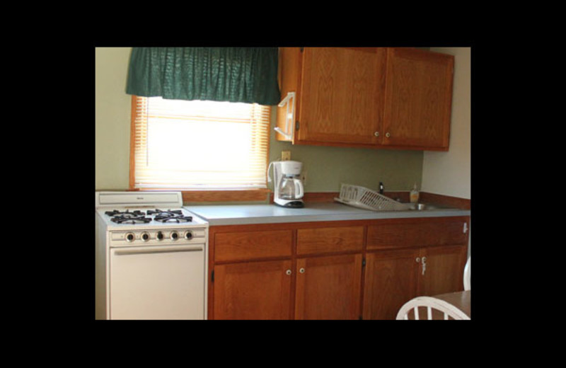 Kitchen view at Lake Leelanau Vacation Rentals & Guide.