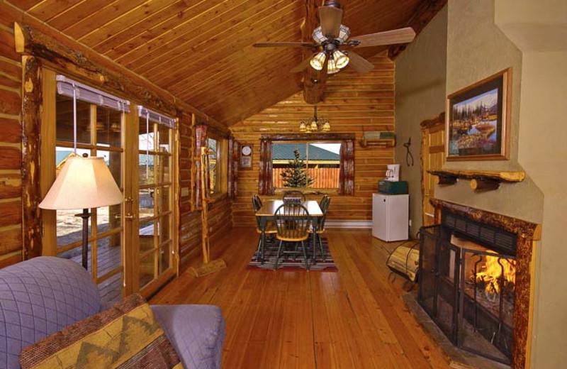 Cream Creek cabin interior at Bar N Ranch.