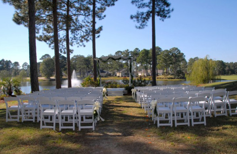 Wedding ceremony at Brunswick Plantation Resort.