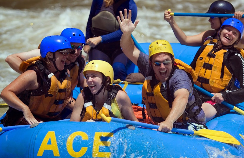 River rafting at The Cabins at Pine Haven.