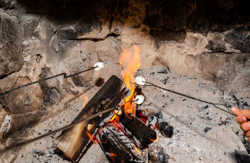 Bonfire at North Shore Lodge & Resort.
