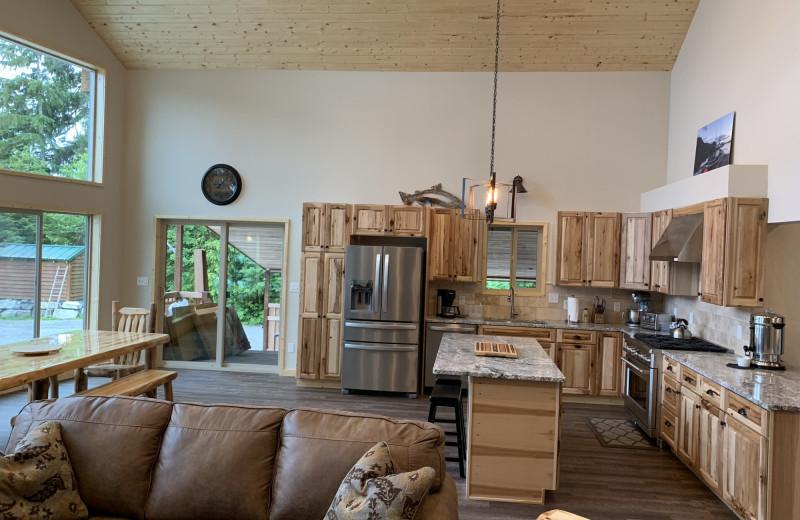 Cabin interior at Screamin' Reels Lodge.