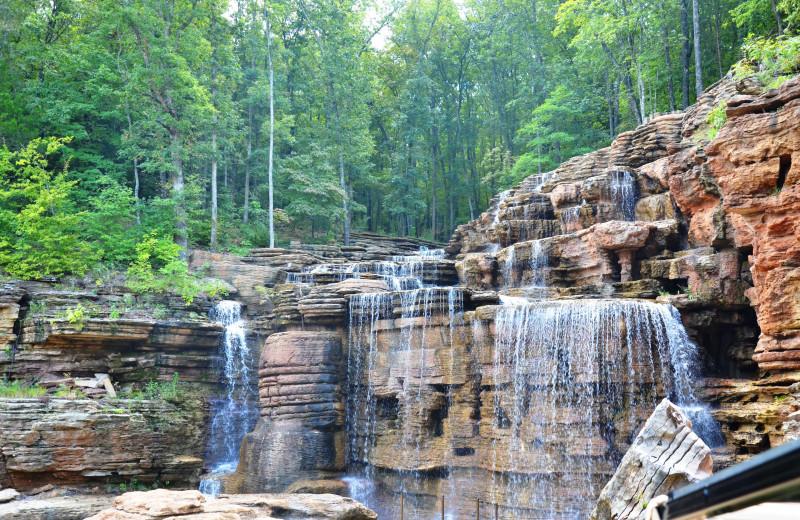 Waterfall near Amazing Branson Rentals.
