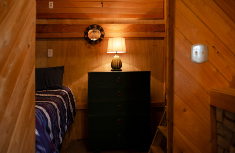 Cabin bedroom at Kel's Kove.