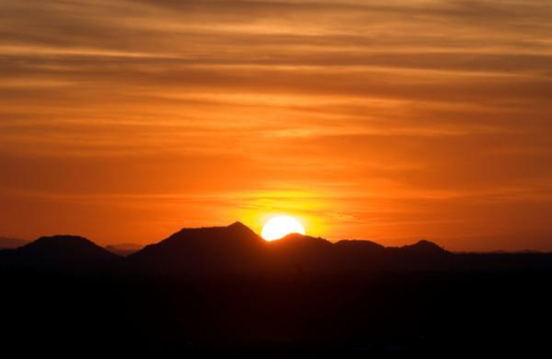 Sunset near Vineyard Bed & Breakfast.