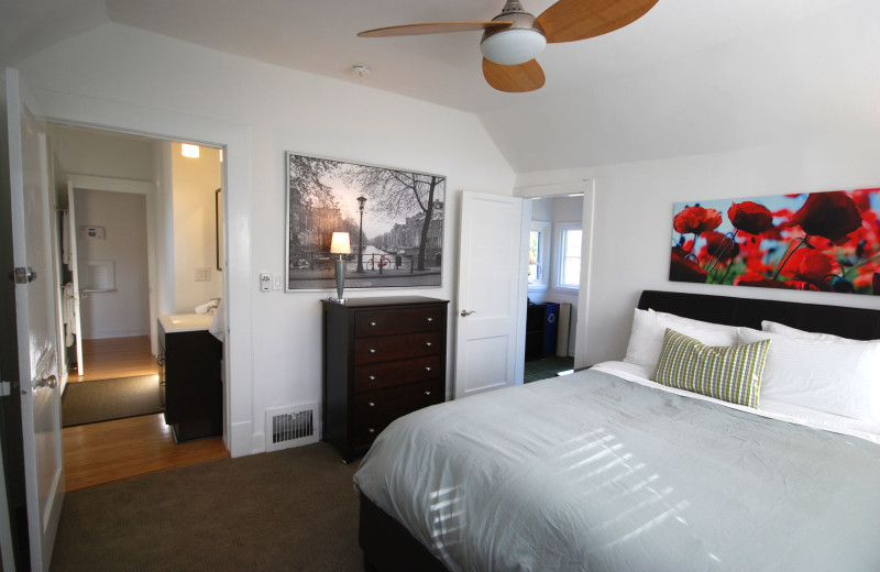 Guest bedroom at BCA Furnished Apartments.