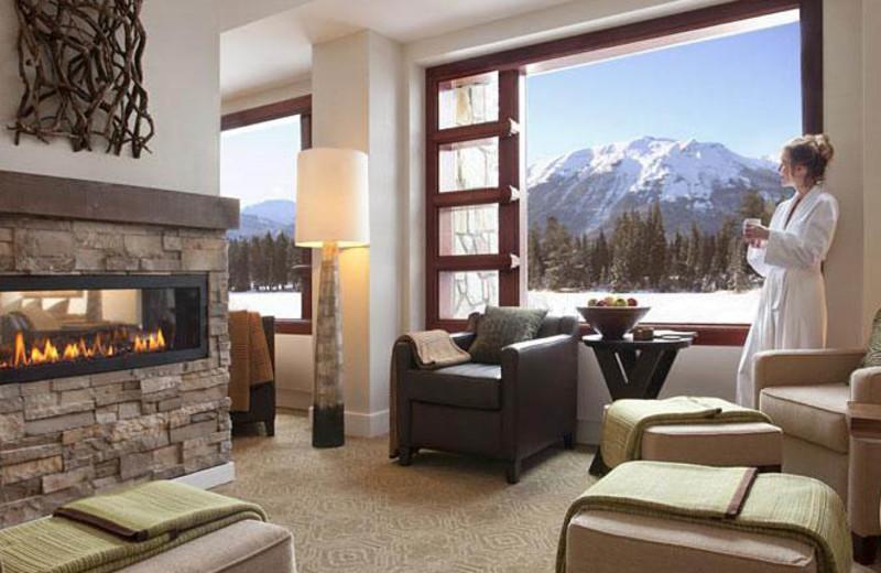 Guest suite at The Fairmont Jasper Park Lodge.
