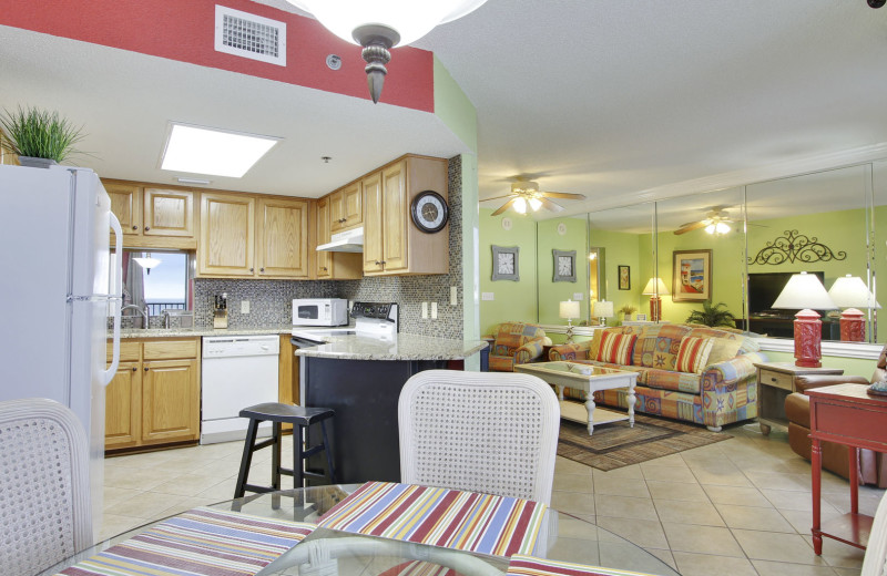 Rental interior at Gulf Coast Beach Getaways.